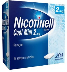 Stoppen met roken Nicotinell Kauwgom cool mint 2 mg 204 stuks