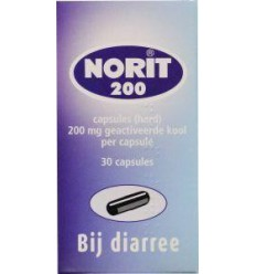 Norit 200 mg 30 capsules | € 7.20 | Superfoodstore.nl