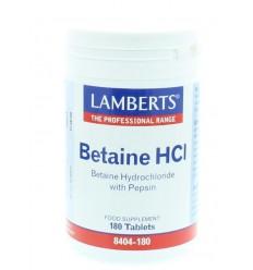 Lamberts Betaine HCI 324 mg / Pepsine 5 mg 180 tabletten  