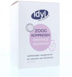 Idyl Zoogkompressen ademend 30 stuks | Superfoodstore.nl