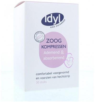 Idyl Zoogkompressen ademend 30 stuks   Superfoodstore.nl