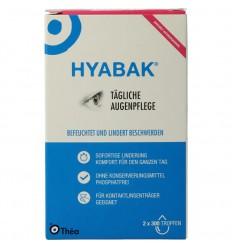 Hyabak Oogdruppels duopack 2 stuks   Superfoodstore.nl
