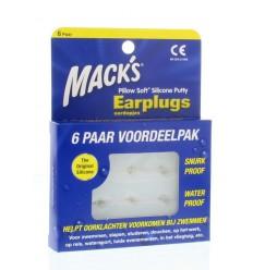 Macks Earplugs 6 paar | Superfoodstore.nl