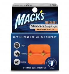 Macks Shooters moldable earplugs orange 3 paar |
