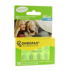 Ohropax Soft geluid mini 10 stuks | Superfoodstore.nl