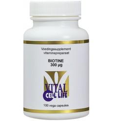 Vital Cell Life Biotine 300 mcg 100 vcaps | € 17.29 | Superfoodstore.nl
