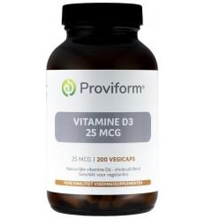 Proviform Vitamine D3 25 mcg 200 vcaps | € 23.03 | Superfoodstore.nl