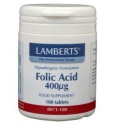 Lamberts Vitamine B11 400 mcg (foliumzuur) 100 tabletten  