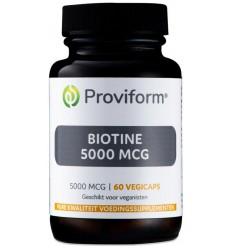 Proviform Biotine 5000 mcg 60 vcaps | € 15.99 | Superfoodstore.nl