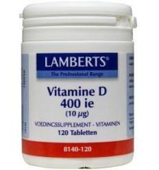 Lamberts Vitamine D 400IE 10 mcg 120 tabletten | € 10.82 | Superfoodstore.nl