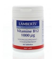 Lamberts Vitamine B12 1000 mcg (cyanocobalamine) 60 tabletten |