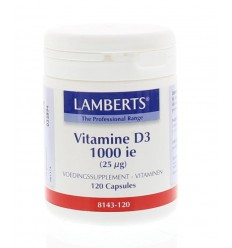 Lamberts Vitamine D3 1000IE 25 mcg 120 capsules | € 14.61 | Superfoodstore.nl