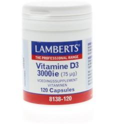 Lamberts Vitamine D3 3000IE 75 mcg 120 capsules | € 21.30 | Superfoodstore.nl
