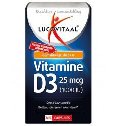 Lucovitaal Vitamine D3 25 mcg 365 capsules | Superfoodstore.nl