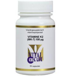 Vital Cell Life Vitamine K2 MK7 100 mcg 30 capsules | € 17.59 | Superfoodstore.nl