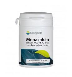 Springfield Menacalcin vitamine K2 60 tabletten | € 17.75 | Superfoodstore.nl