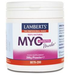 Lamberts Myo-inositol 200 gram | € 21.69 | Superfoodstore.nl