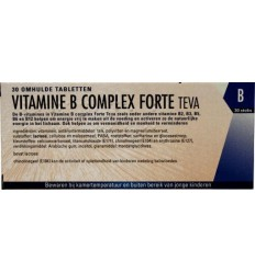 Vitamine B Teva Vitamine B complex forte 30 tabletten kopen
