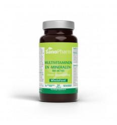 Sanopharm Multivitaminen/mineralen wholefood 30 capsules | € 16.95 | Superfoodstore.nl