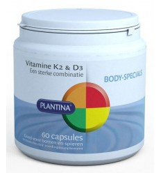 Plantina Vitamine K2 en D3 60 capsules | Superfoodstore.nl