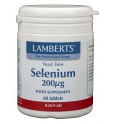 Lamberts Selenium 200 mcg 60 tabletten | € 15.22 | Superfoodstore.nl