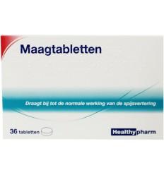 Healthypharm Maagtabletten calcium carbonaat 36 tabletten  