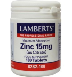 Lamberts Zink citraat 15 mg 180 tabletten | € 16.85 | Superfoodstore.nl