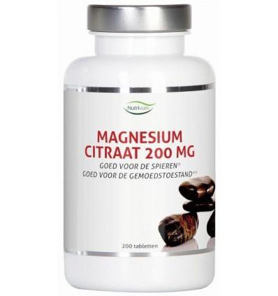 Magnesium Nutrivian citraat 200 mg 200 tabletten kopen
