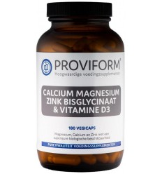 Proviform Calcium magnesium zink bisglycinaat & D3 180 vcaps |