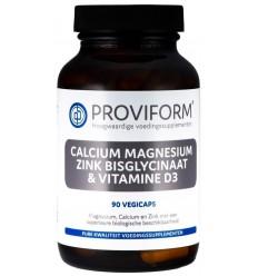 Proviform Calcium magnesium zink bisglycinaat & D3 90 vcaps |