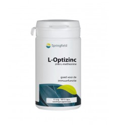 Springfield L-Optizinc 90 vcaps | Superfoodstore.nl