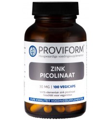 Proviform Zink picolinaat 30 mg 100 vcaps | € 15.29 | Superfoodstore.nl