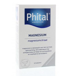 Phital Magnesium 200 mg 60 tabletten | € 11.93 | Superfoodstore.nl