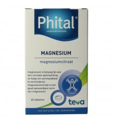Phital Magnesium 200 mg 60 tabletten | Superfoodstore.nl