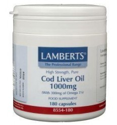 Lamberts Levertraan (cod liver oil) 1000 mg 180 capsules | € 20.46 | Superfoodstore.nl