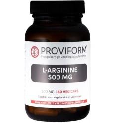 Proviform L-Arginine 500 mg 60 vcaps | Superfoodstore.nl