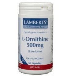 Lamberts L-Ornithine 500 mg 60 vcaps | Superfoodstore.nl