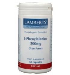 Lamberts L-Phenylalanine 500 mg 60 capsules | Superfoodstore.nl