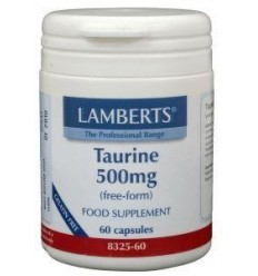 Lamberts Taurine 500 mg 60 vcaps | Superfoodstore.nl
