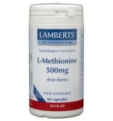 Lamberts L-Methionine 500 mg 60 vcaps | Superfoodstore.nl