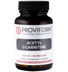 Proviform Acetyl L-carnitine 500 mg 30 vcaps | Superfoodstore.nl
