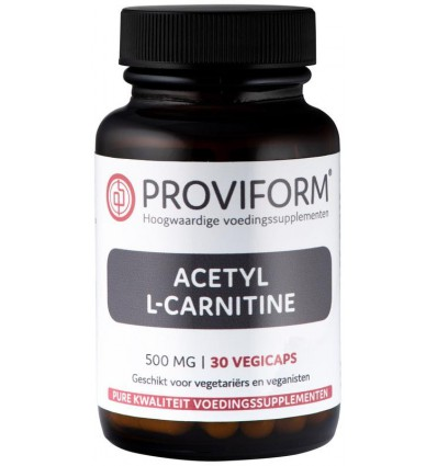 Proviform Acetyl L-carnitine 500 mg 30 vcaps | € 13.01 | Superfoodstore.nl