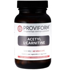Proviform Acetyl L-carnitine 500 mg 60 vcaps | Superfoodstore.nl