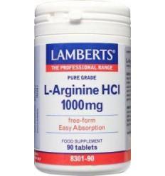 Lamberts L-Arginine 1000 mg 90 tabletten | Superfoodstore.nl