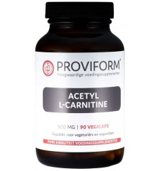 Proviform Acetyl L-carnitine 500 mg 90 vcaps | € 26.89 | Superfoodstore.nl