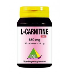 SNP L-Carnitine 650 mg puur 30 capsules | Superfoodstore.nl