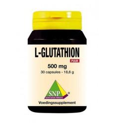 SNP L-Glutathion 500 mg puur 30 capsules | € 34.09 | Superfoodstore.nl