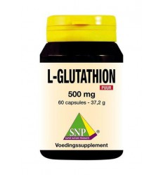 SNP L-Glutathion 500 mg puur 60 capsules | € 58.95 | Superfoodstore.nl