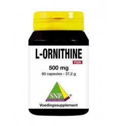 SNP L-Ornithine 500 mg puur 60 capsules | € 18.99 | Superfoodstore.nl