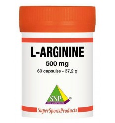 SNP L-arginine 500 mg puur 60 capsules | Superfoodstore.nl